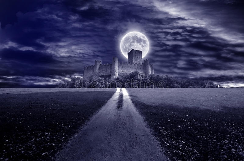 Månskenslott arkivbild