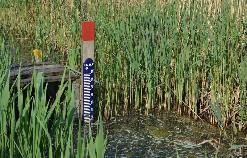 mått level vatten fotografering för bildbyråer