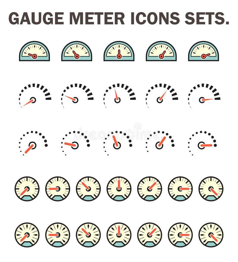 Måttmetersymbol stock illustrationer