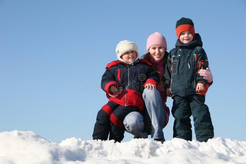 Mère avec des enfants photos stock