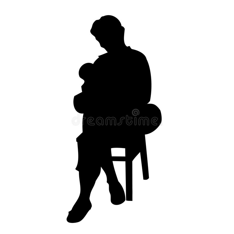 Mère avec l'enfant illustration libre de droits