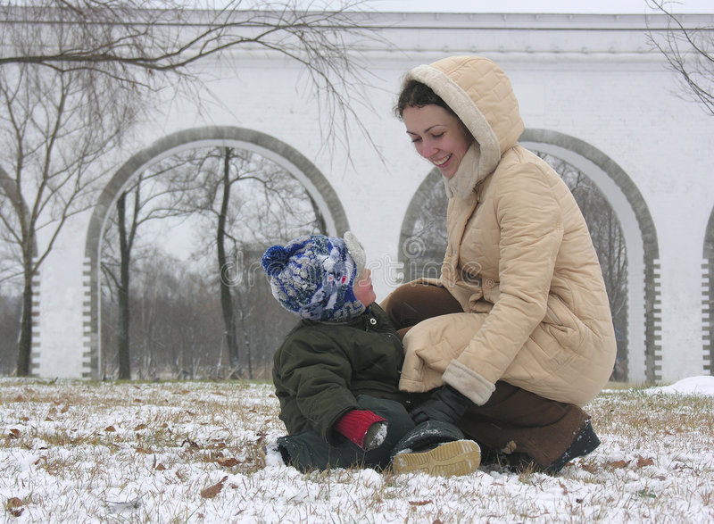 Mère avec le fils photographie stock libre de droits