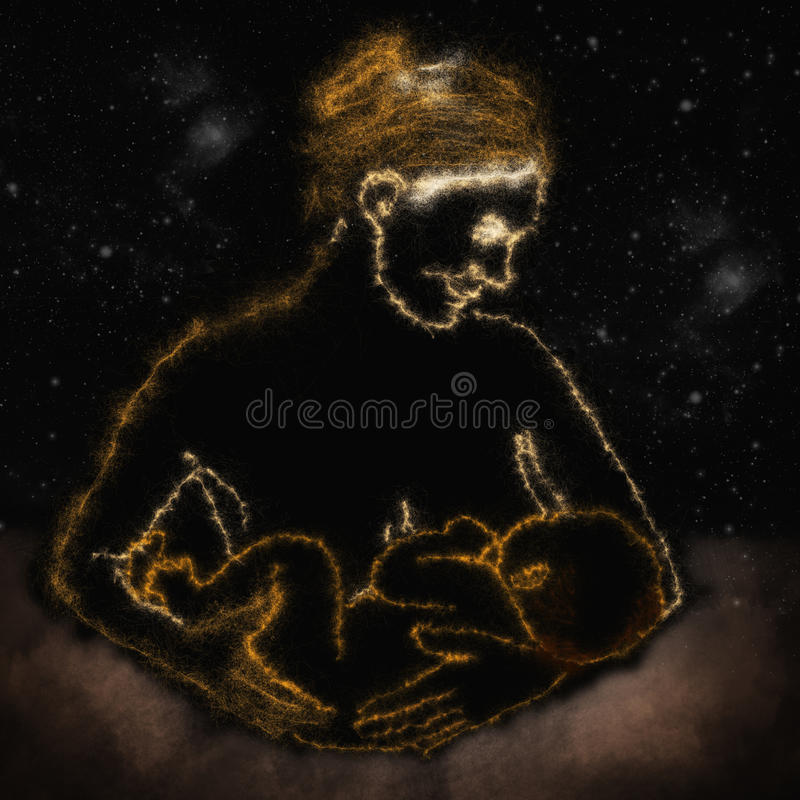 Mère avec nouveau-né illustration libre de droits
