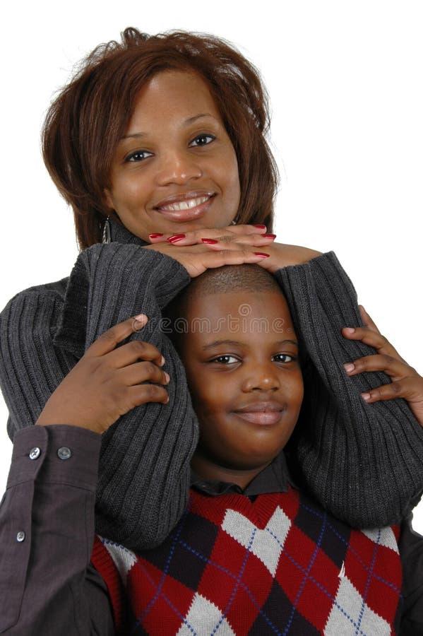 Mère d'Afro-américain et ainsi images stock