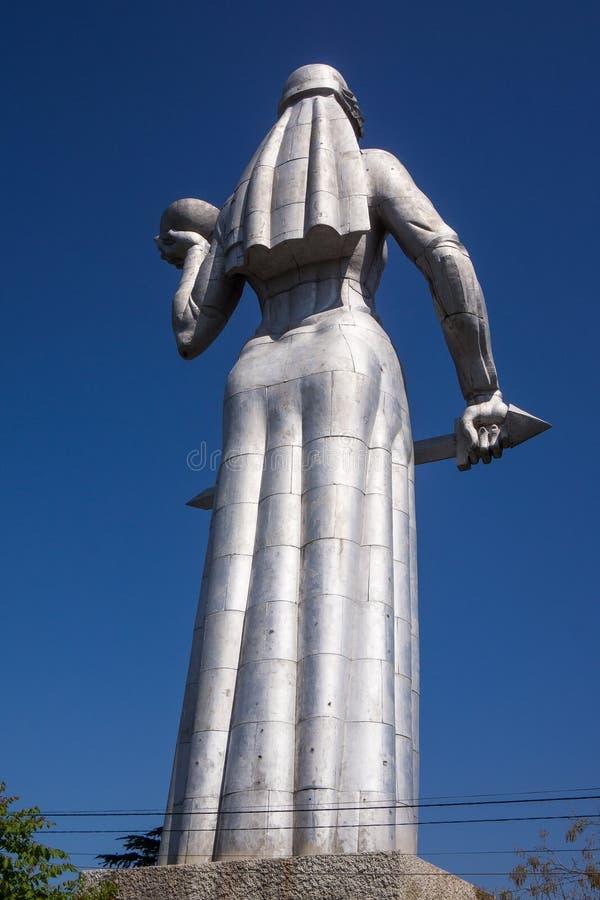 Mère de statue de la Géorgie dans les tiflis photographie stock libre de droits