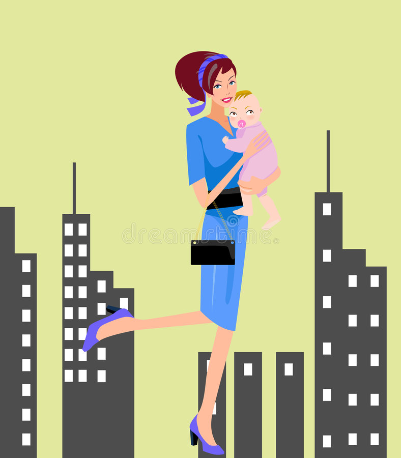 Mère et chéri illustration de vecteur