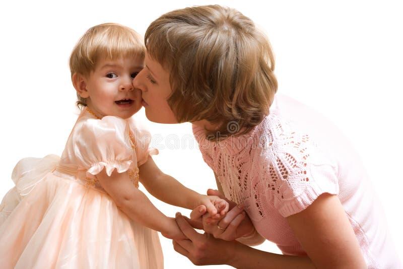 Mère et chéri heureuses images libres de droits