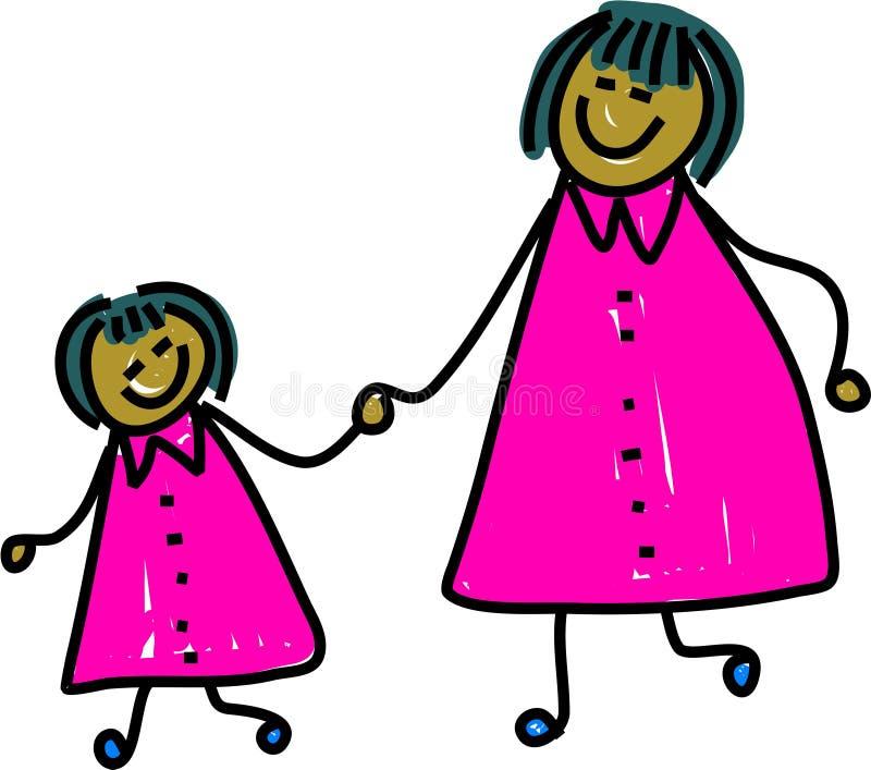 Mère et descendant illustration stock