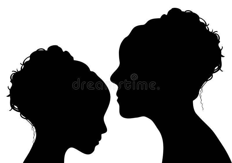 Mère et descendant illustration libre de droits
