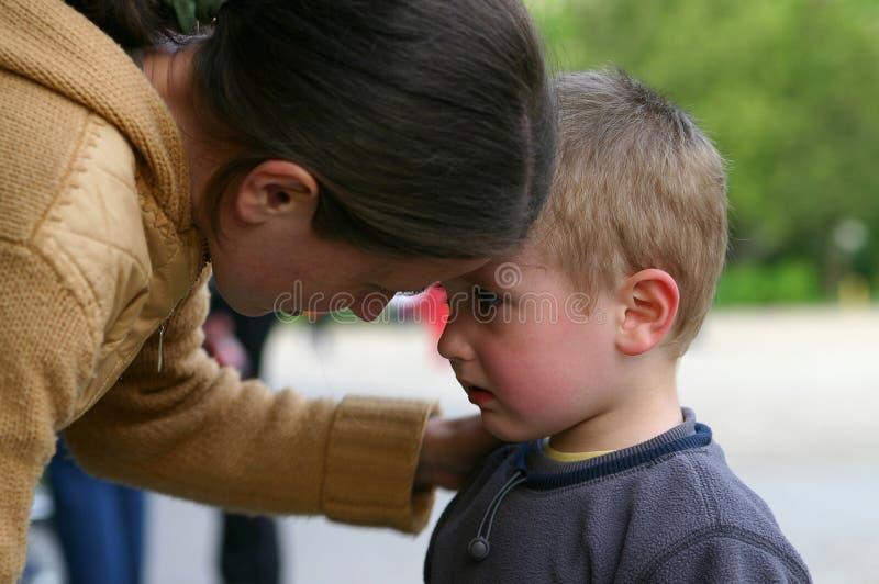 Download Mère et enfant photo stock. Image du regard, detail, gosse - 736386