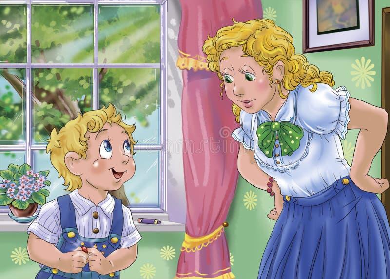 Mère et enfant illustration stock