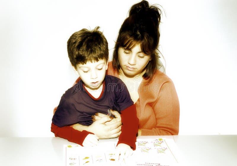 Download Mère et enfant image stock. Image du histoire, toddler, storybook - 85231