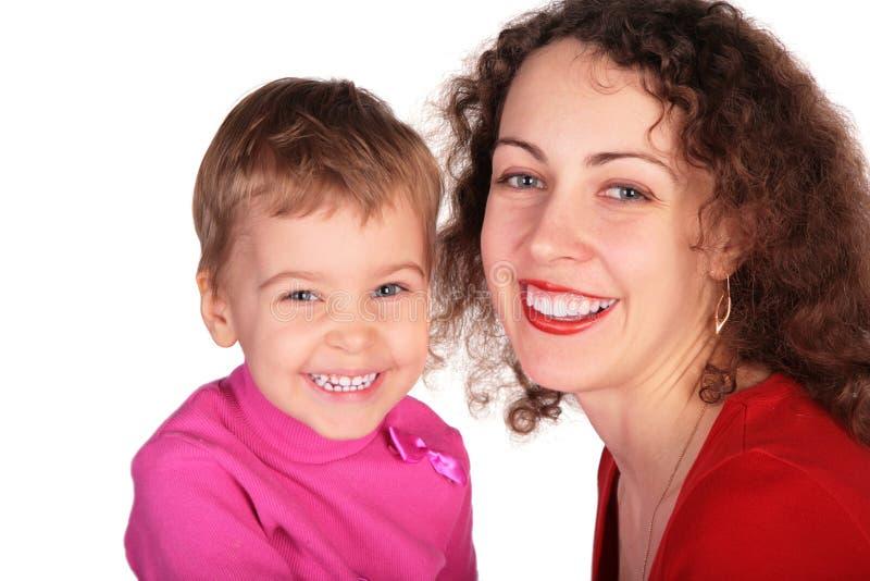 Mère et enfant de sourire photo libre de droits