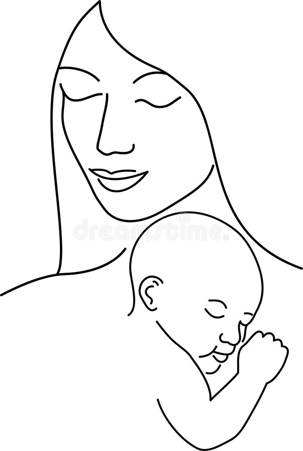 Mère et enfant/ENV illustration stock