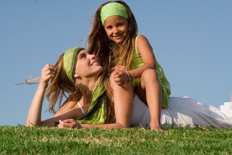 Mère et enfant heureux images libres de droits