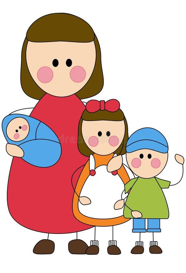 Mère et enfants photographie stock libre de droits