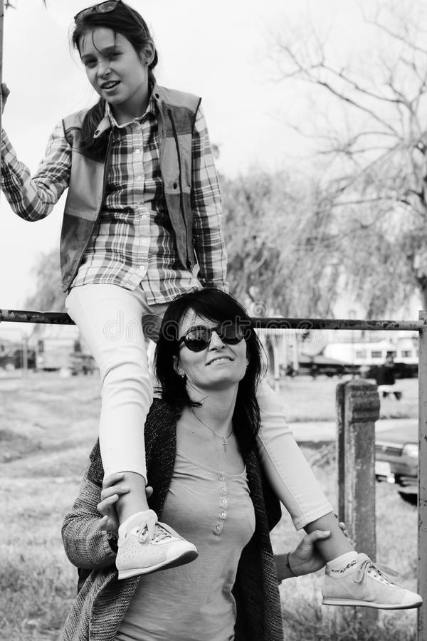 Mère et fille photo Rebecca 36 photographie stock