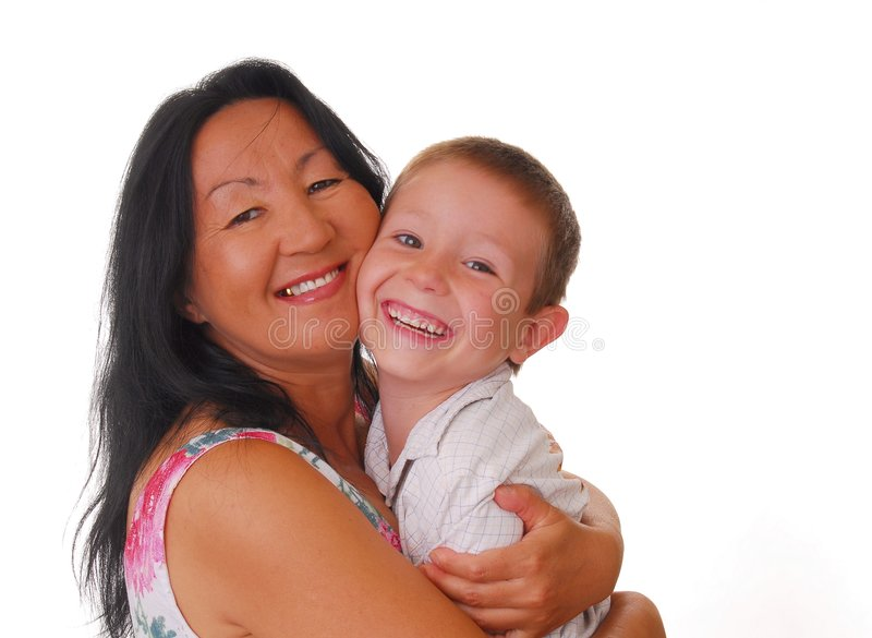 Mère et fils 26 images stock