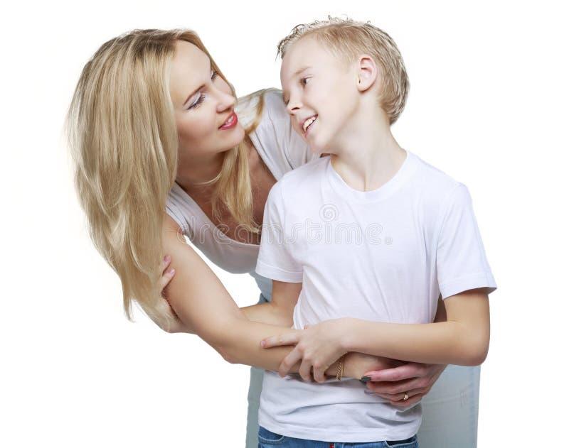 Mère et fils heureux photo libre de droits