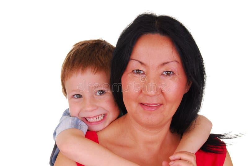 Mère et fils neuf photo libre de droits