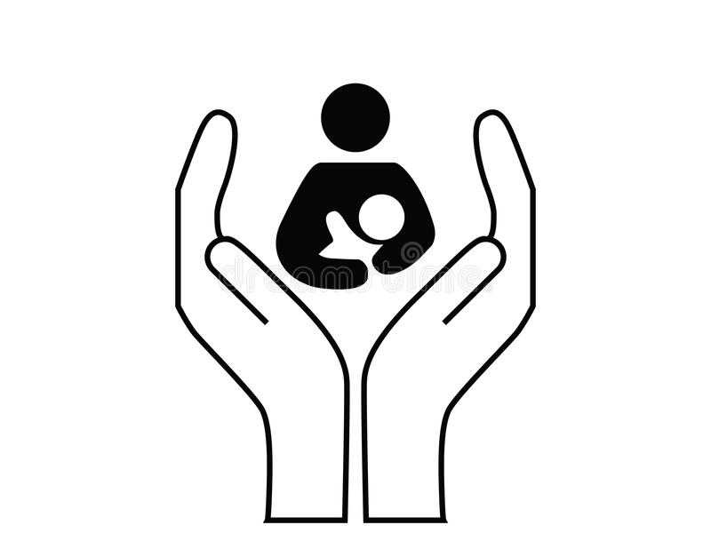 Mère et protection de l'enfance illustration libre de droits