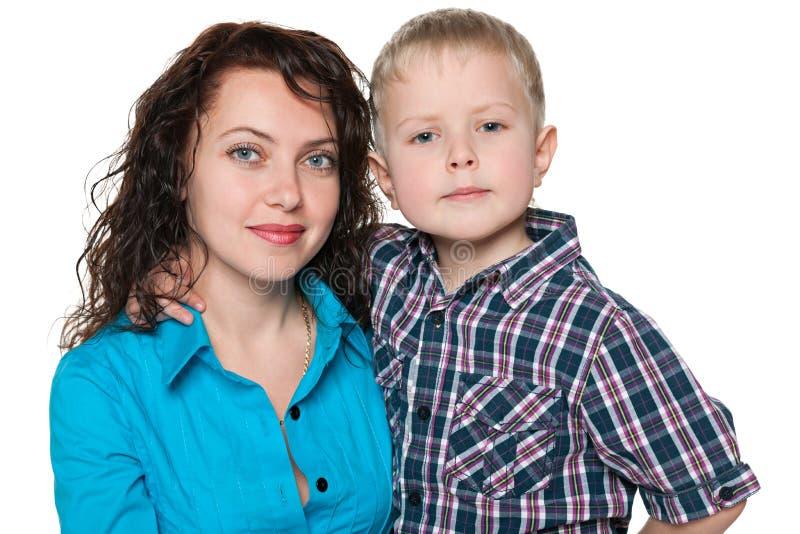 Mère et son petit fils photo stock