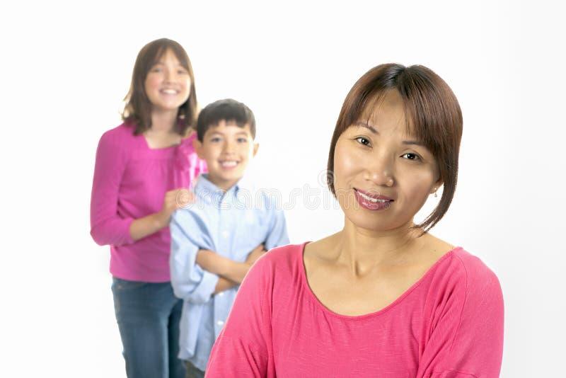 Mère et sourire d'enfants photos stock