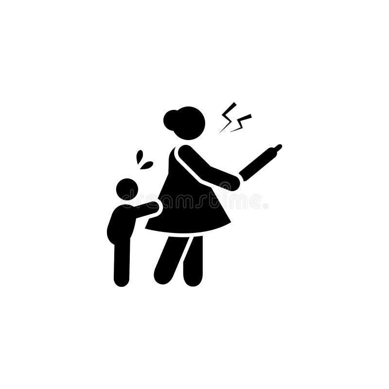 Mère, fâchée, icône de bébé ?l?ment d'ic?ne de parent Ic?ne de la meilleure qualit? de conception graphique de qualit? Signes et  illustration libre de droits