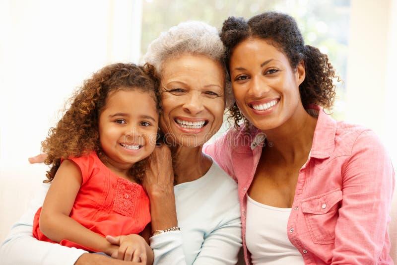 Mère, fille et petite-fille photo libre de droits