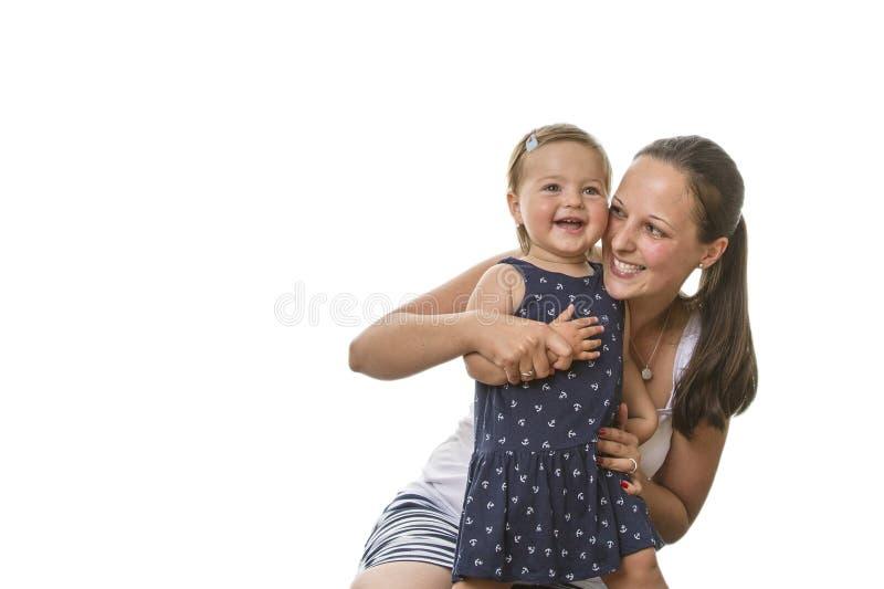 Mère heureuse avec l'enfant image libre de droits