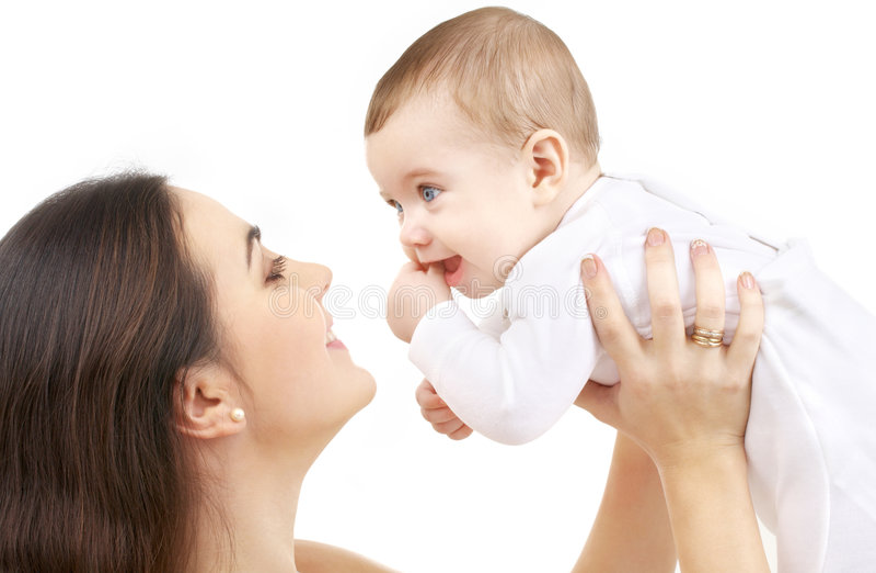 Mère heureuse avec le bébé #2 images stock