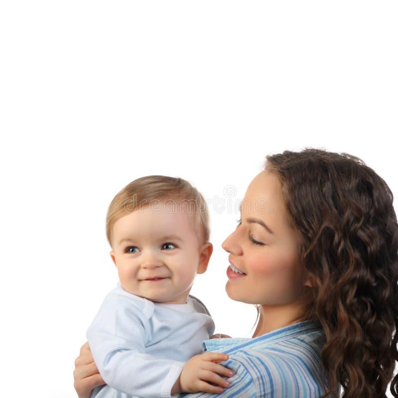 Mère heureuse avec le fils photos libres de droits