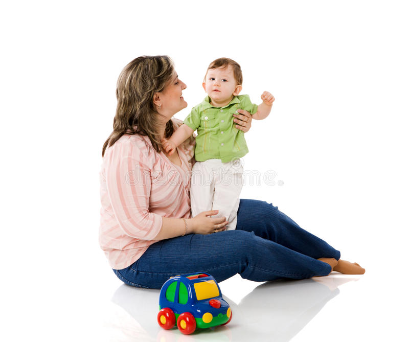 Mère jouant avec l'enfant image libre de droits