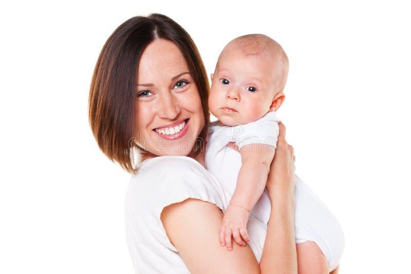 Mère souriante et son petit fils photo stock