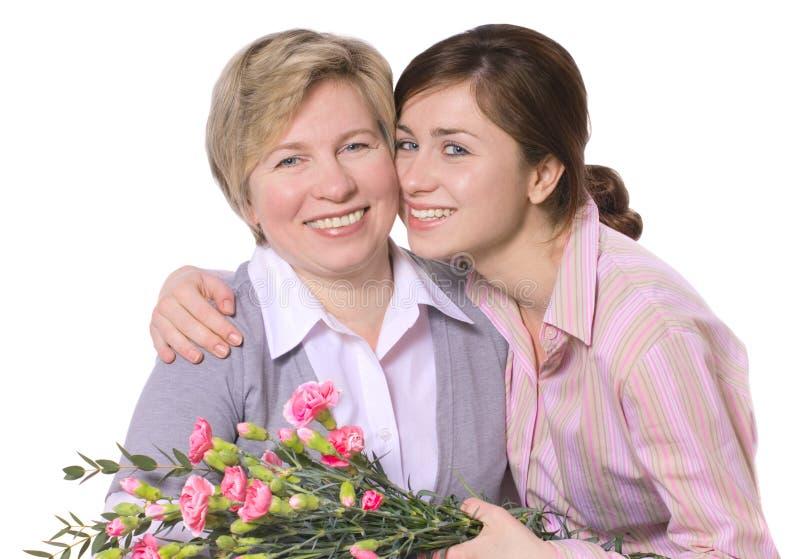 Download Mères de jour image stock. Image du rire, fleur, embrassement - 8659193