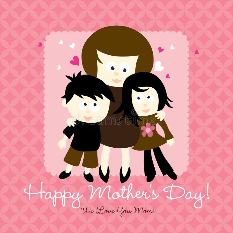 mères heureuses de jour de carte illustration stock