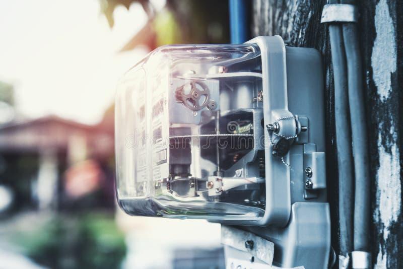 mètre électrique de watt-heure photos libres de droits