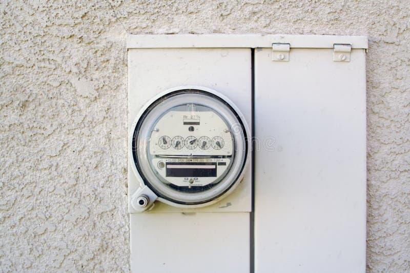 Mètre électrique de watt-heure images libres de droits