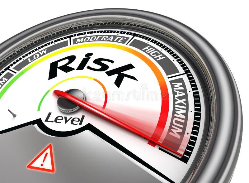 Mètre conceptuel de niveau de risque illustration de vecteur