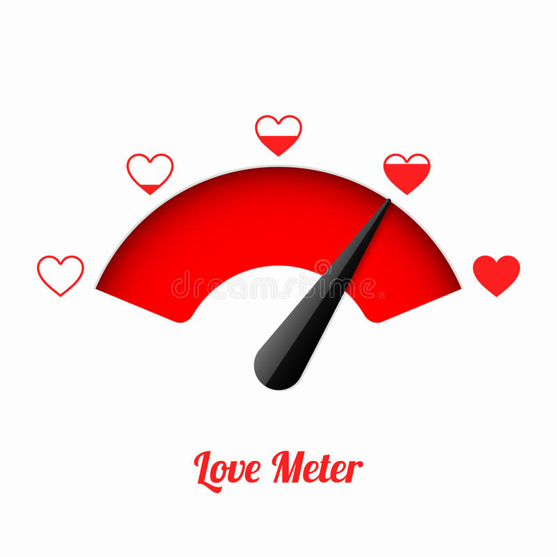 Mètre d'amour illustration de vecteur