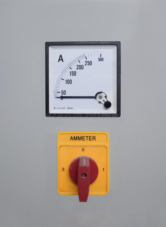 Mètre d'ampère image stock