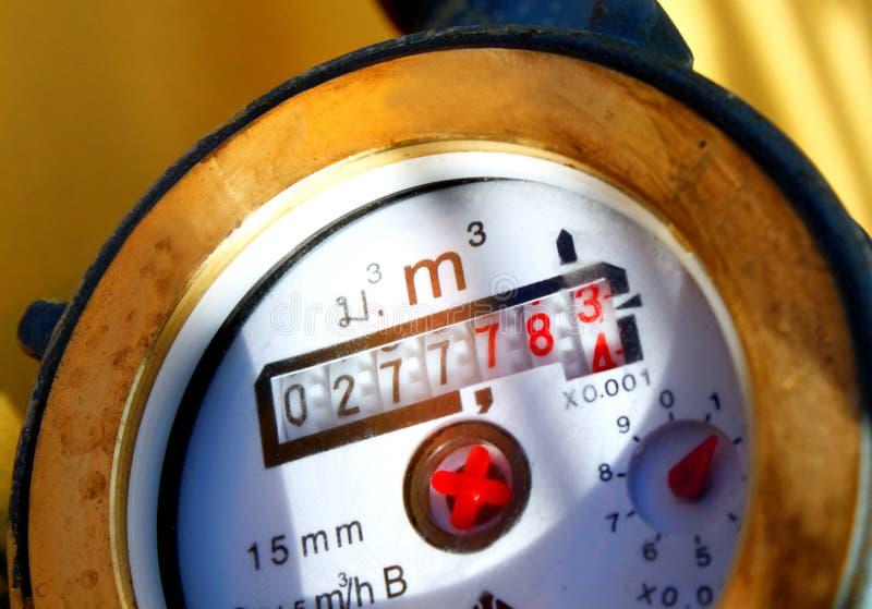 Mètre d'eau photographie stock libre de droits