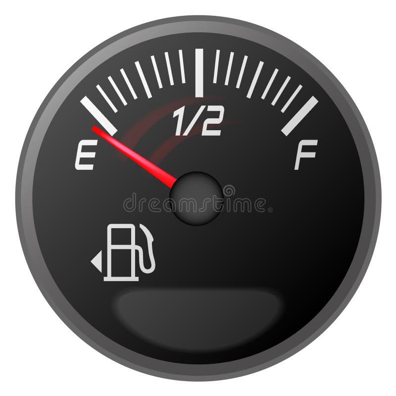 Mètre d'essence, jauge d'essence illustration de vecteur