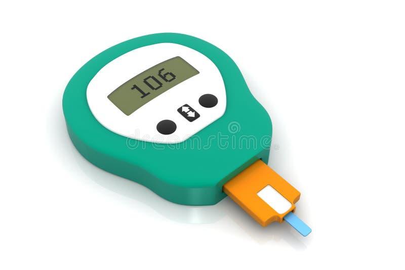 Mètre de glucose illustration stock