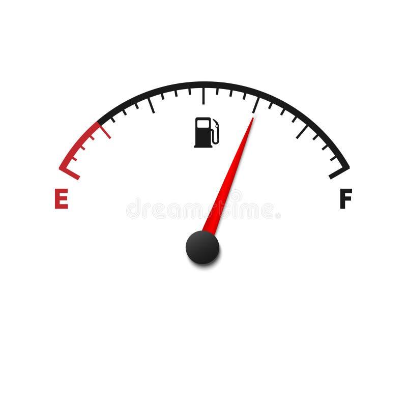 mètre de jauge de carburant illustration de vecteur