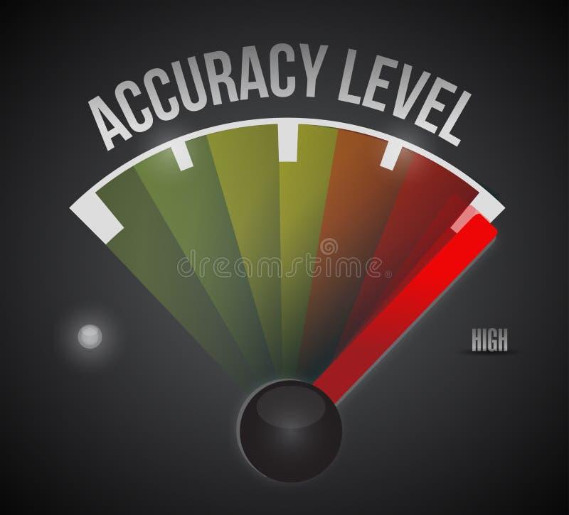Mètre de niveau de niveau de mesure d'exactitude illustration stock