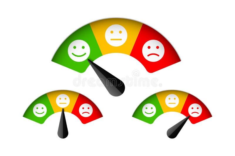 Mètre de satisfaction du client illustration de vecteur
