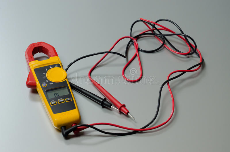 Mètre de volt de Digital images stock