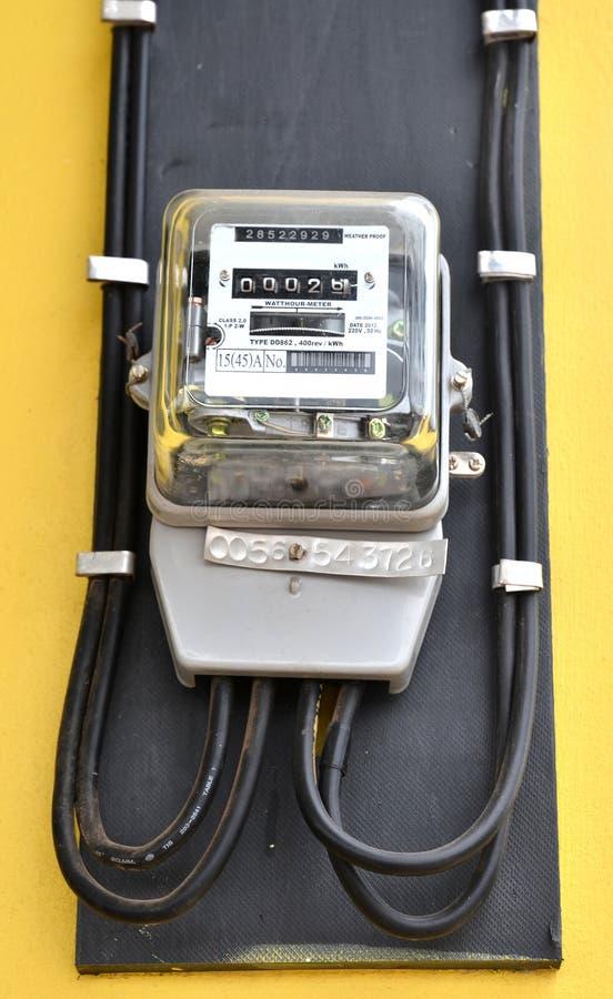 Mètre de watt-heure photos stock