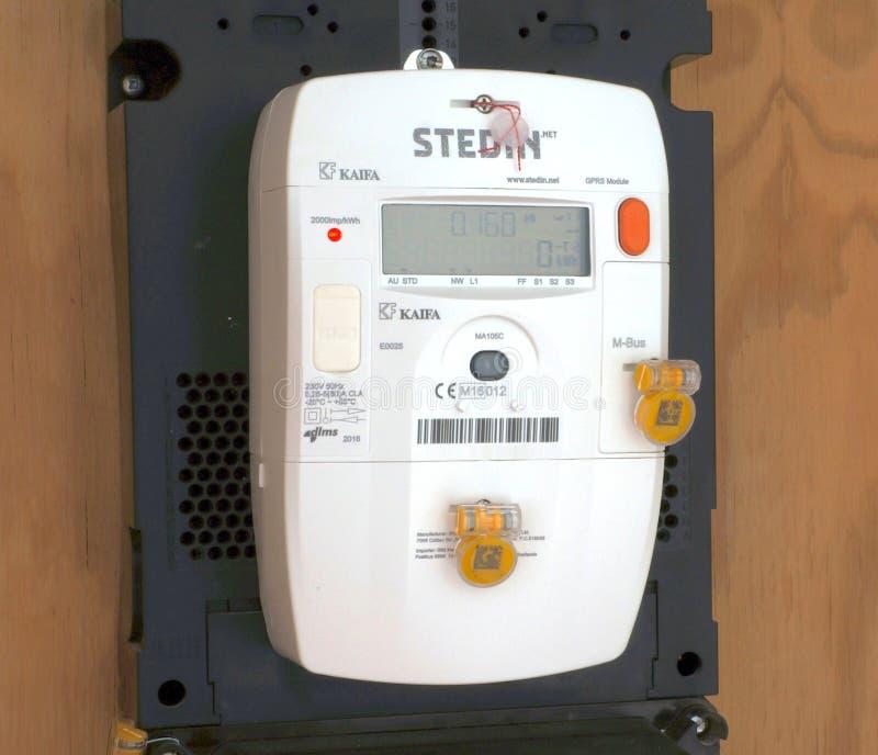 Mètre intelligent de l'électricité photo stock